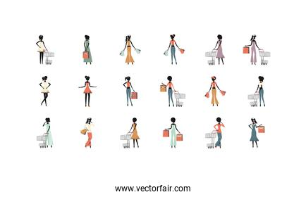 Isolated shopping and ecommerce icon set vector design