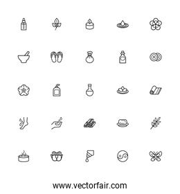 bundle of spa line style icons