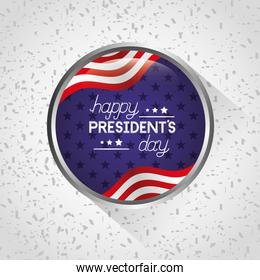 happy presidents day celebration poster with usa flags
