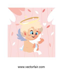 cute cupid angel , valentines day
