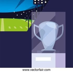 Super bowl trophy vector design