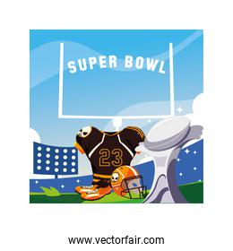 american football player outfit, banner super bowl