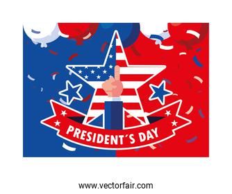 president day greeting card, United States of America celebration