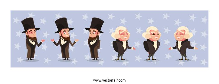 president abraham lincoln and george washington, presidents day celebration