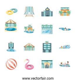 Isolated travel and trip icon set vector design