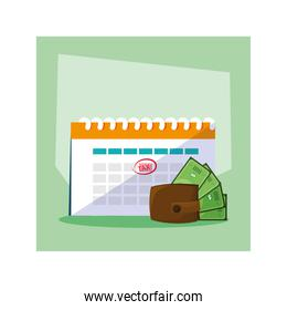 set of icons of tax day