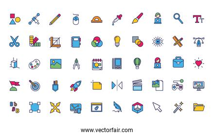 bundle of designer set icons