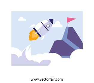 flying rocket, success of business