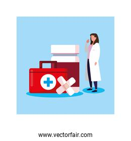 doctor with first aid kit medical