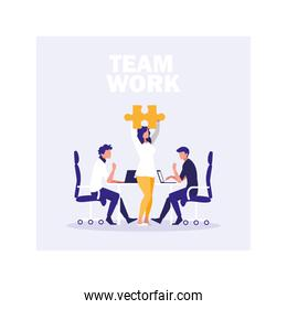 group of people business in the work office, coordinated work in friendly team in the office