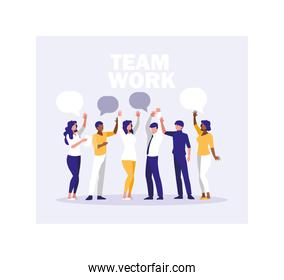 group of people business celebrating success, successful business team