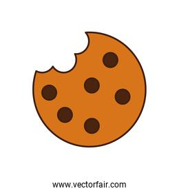 sweet cookie with bite icon