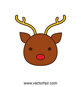 happy merry christmas reindeer character