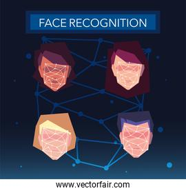 recognition of the people face, digital face identification