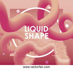 background Orange liquid shape vector design