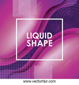 Purple and pink liquid shape vector design