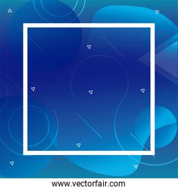 Blue liquid shape vector design