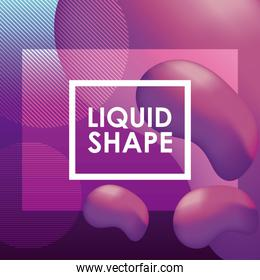 Purple liquid shape vector design