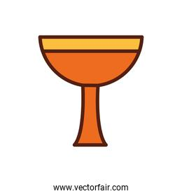 chalice cup religious icon over white
