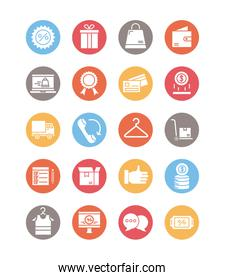 bundle of commercial set icons