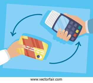 voucher and credit card with online shopping technology