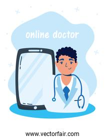 health online technology with smartphone