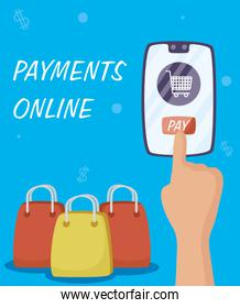 Payments online technology with smartphone
