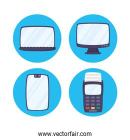 Payments online technology with set gadgets