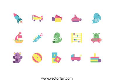Isolated toys icon set vector design