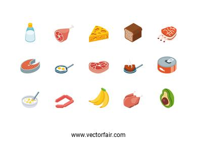 Isolated food icon set vector design