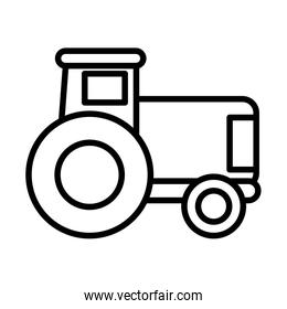 gardening tractor , line style icon