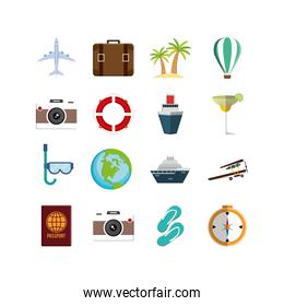 Isolated travel and airport icon set vector design