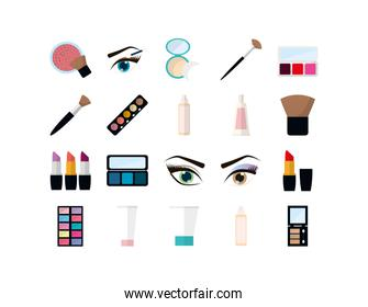 Isolated make up and cosmetic icon set vector design