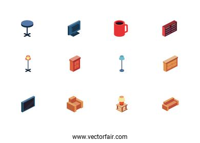 Isolated home icon set vector design