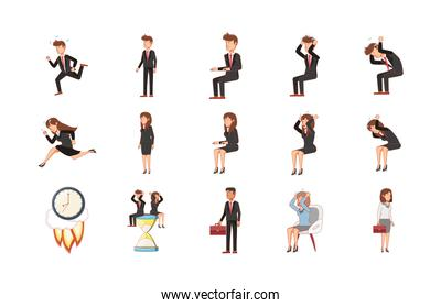 Businesspeople set vector design