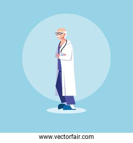 man doctor standing, medical staff