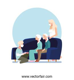youth people take care of elderly