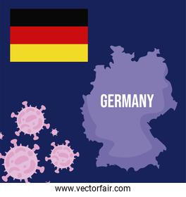 germany map with 2019 ncov infographic