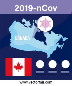 canada map with 2019 ncov infographic