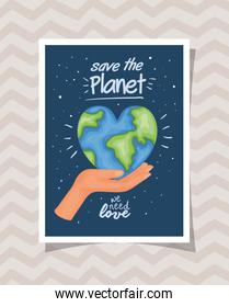 Planet of human rights concept vector design