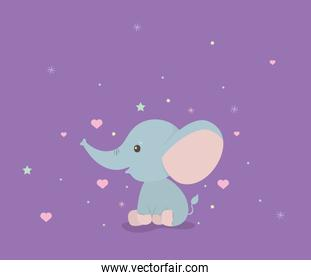 Cute elephant cartoon vector design