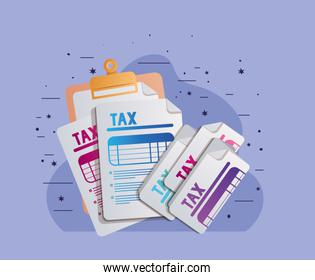 tax documents papers ector design