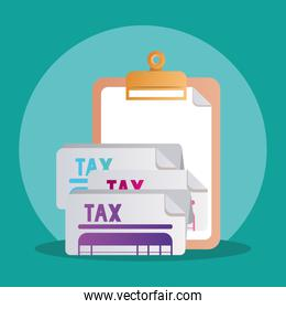 tax documents papers vector design