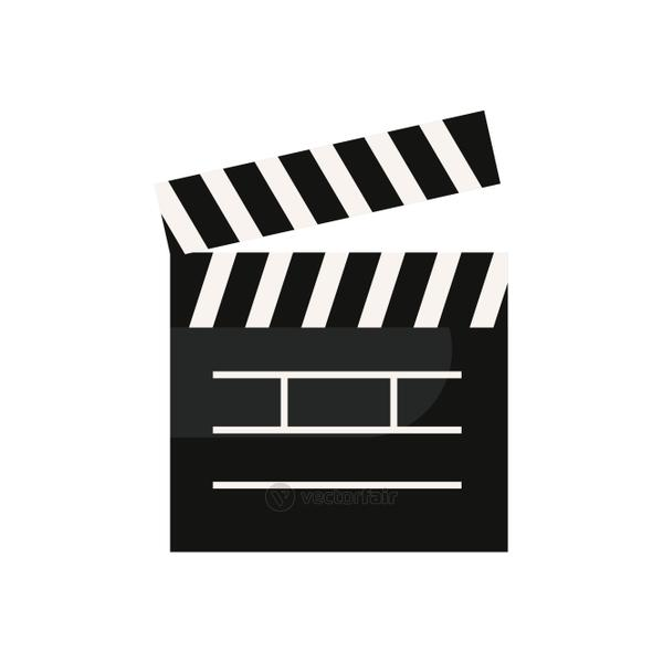Isolated movie clapboard fill style icon vector design