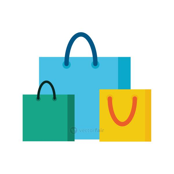 paper shopping bags isolated icon