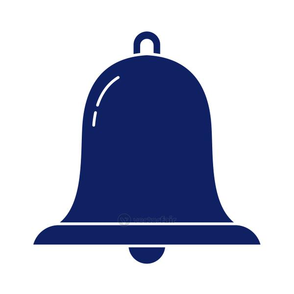 alarm bell, silhouette style icon