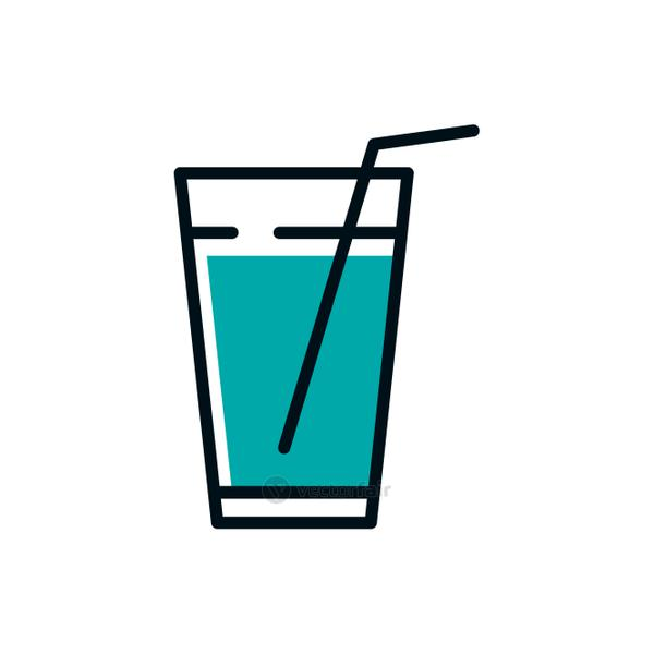 Isolated water glass icon vector design