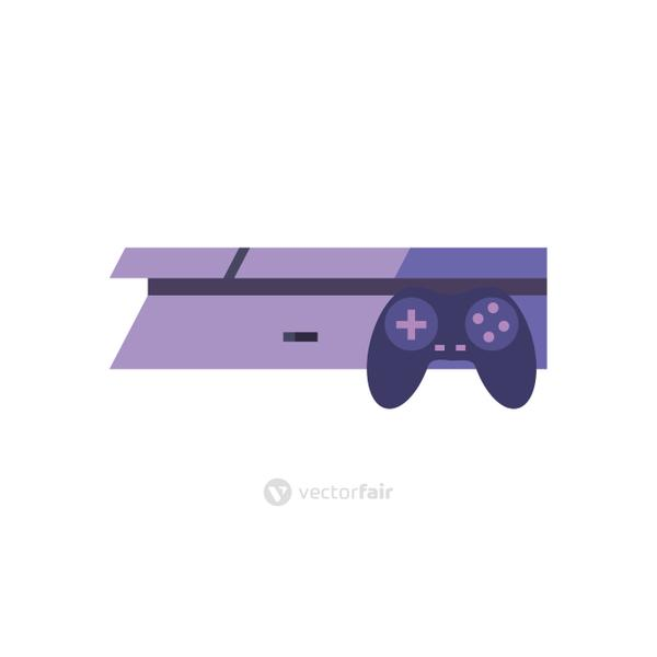 Isolated videogame control with console line style icon vector design