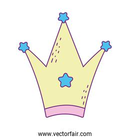 Isolated royal crown vector design