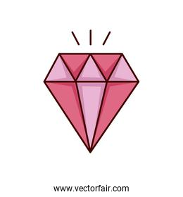 diamond stone luxury isolated icon